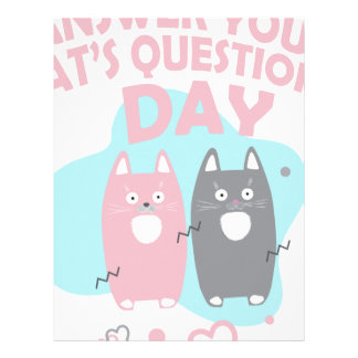 Answer Your Cat's Questions Day Letterhead