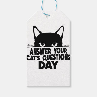 Answer Your Cat's Questions Day Pack Of Gift Tags