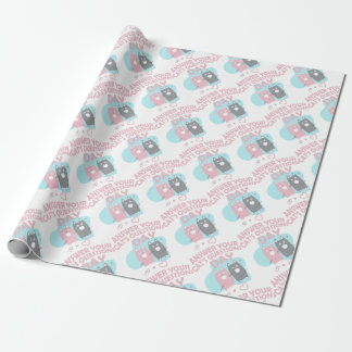 Answer Your Cat's Questions Day Wrapping Paper