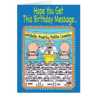 ANSWERING MACHINES Birthday Card