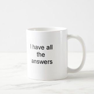 Answers Classic White Coffee Mug