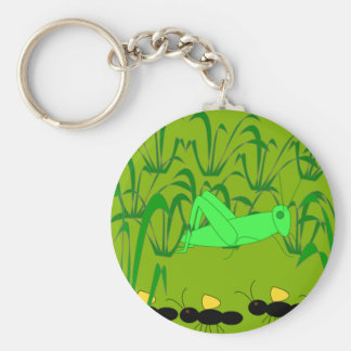 Ant and Grasshopper Keychain