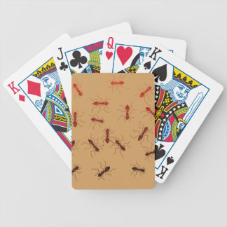 Ant antics. bicycle playing cards