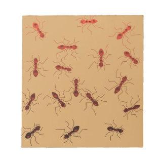 Ant antics. notepad