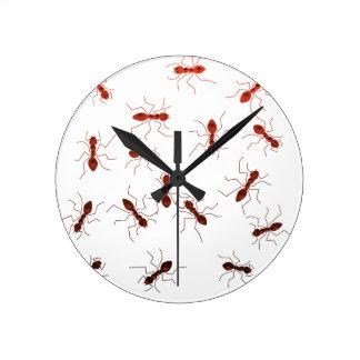 Ant antics. round clock