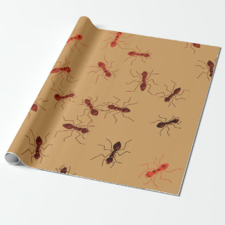 Ant antics. wrapping paper