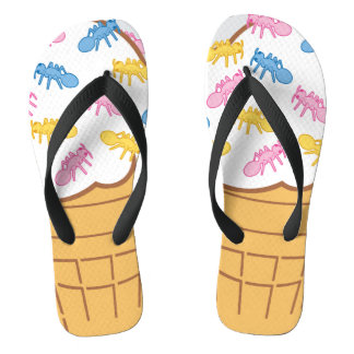 Ant Ice Cream Flip Flops