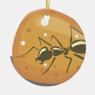 Ant in Amber Ceramic Ornament