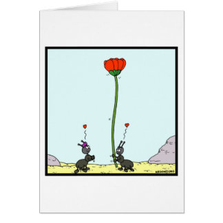 Ant in love: Ant cartoon Card