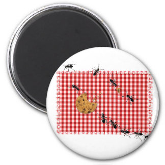 Ant Picnic 2 Inch Round Magnet