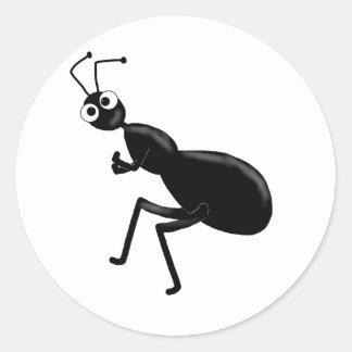 ant round sticker