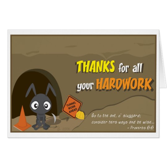 Ant Thank You Card