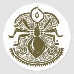 Ant Totem Round Stickers
