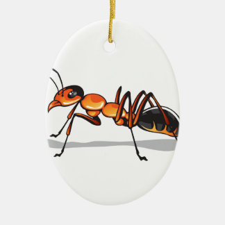 Ant vector ceramic ornament