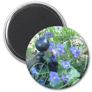 Ant & Violets 2 Inch Round Magnet