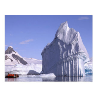 Antarctica, Antarctic Peninsula. Zodiak and Postcard
