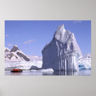 Antarctica, Antarctic Peninsula. Zodiak and Poster