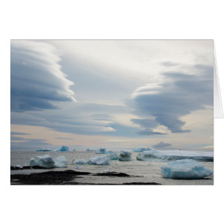 Antarctica. Brown Bluff. Lenticular clouds Card