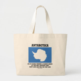 Antarctica Global Warming Climate Change Continent Bag