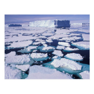 Antarctica, Ice flow. Postcard