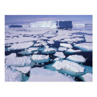 Antarctica, Ice flow. Postcard