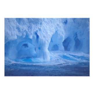 Antarctica. Iceberg with breaking waves Photograph