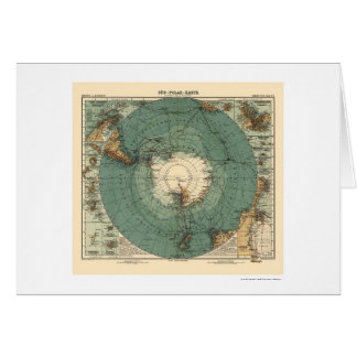 Antarctica Map 1912 Card