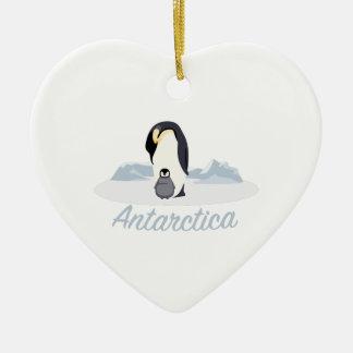 Antarctica Penguins Ceramic Ornament