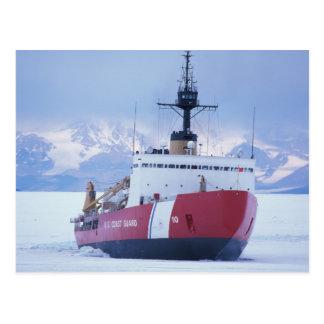 Antarctica, Ross Island, McMurdo Station, USCG Postcard