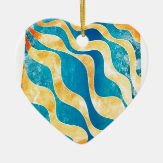 Antaressia - blue sun ceramic heart ornament