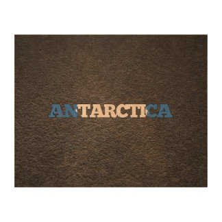 Antartican name and flag photo cork paper