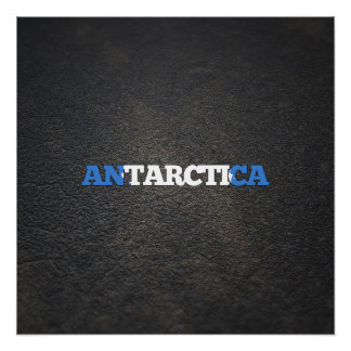 Antartican name and flag perfect poster