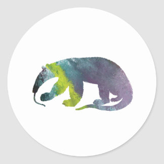 Anteater art classic round sticker