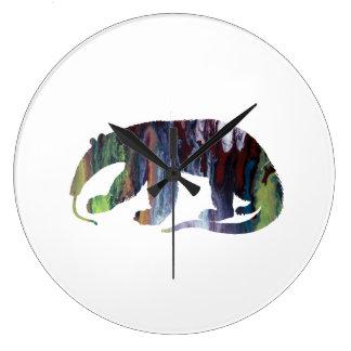 Anteater art large clock