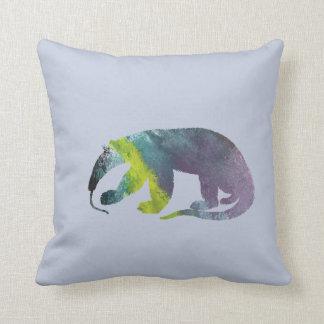 Anteater art throw pillow