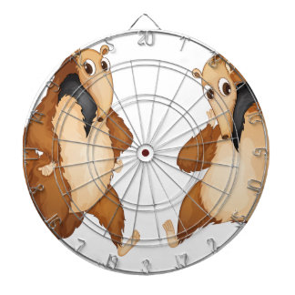 anteaters dartboard with darts