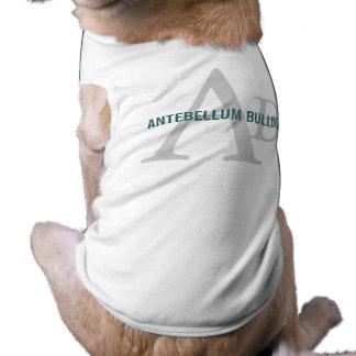 Antebellum Bulldog Breed Monogram Pet Clothing