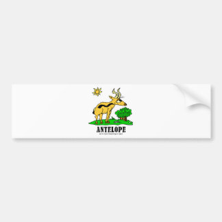 Antelope by Lorenzo Traverso Bumper Sticker