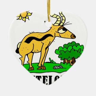 Antelope by Lorenzo Traverso Ceramic Ornament
