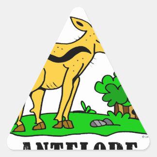 Antelope by Lorenzo Traverso Triangle Sticker