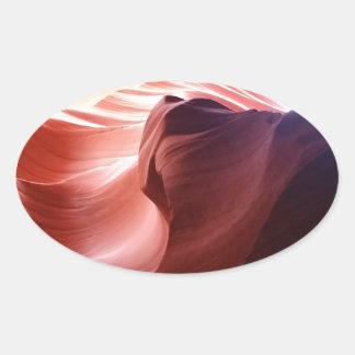 Antelope Canyon Oval Sticker