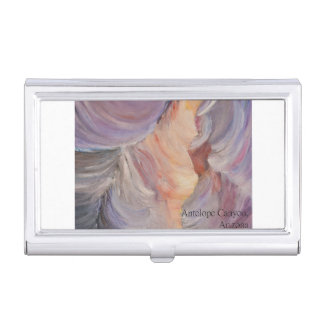 antelope canyon painting in oil business card holder
