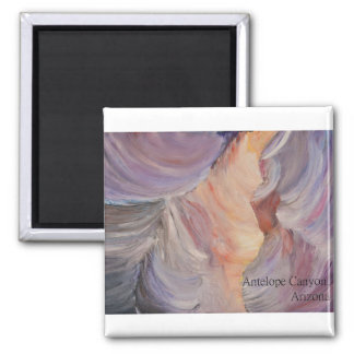 antelope canyon painting in oil magnet