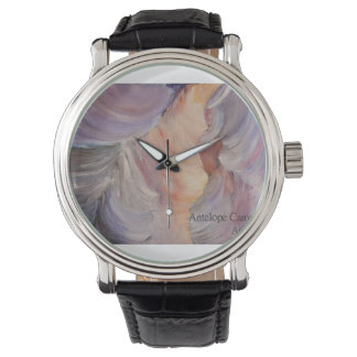 antelope canyon painting in oil wrist watch