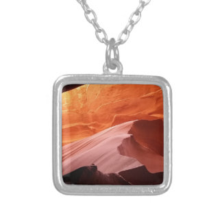 Antelope Canyon Silver Plated Necklace