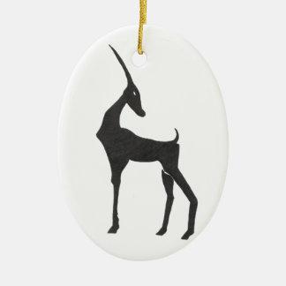 Antelope Ceramic Ornament