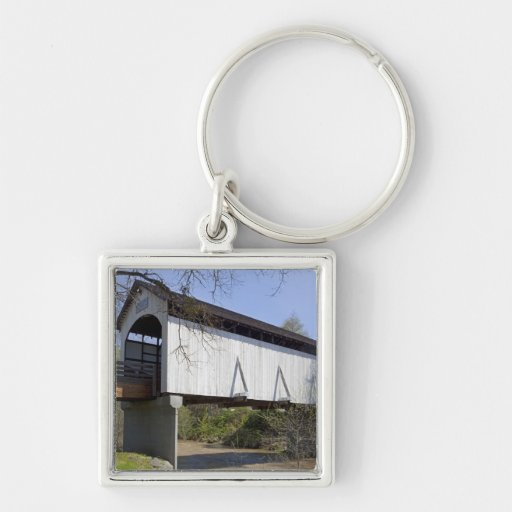 Antelope Creek Covered Bridge, built in 1922 Keychain