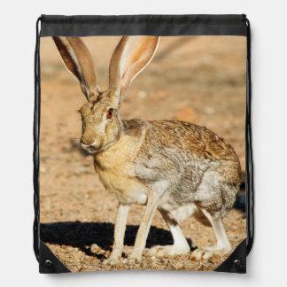 Antelope jackrabbit portrait, Arizona Drawstring Bag