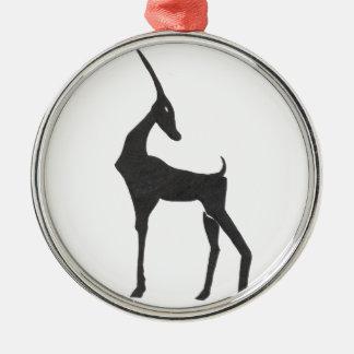Antelope Metal Ornament