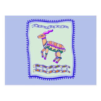 Antelope Quilt Postcard